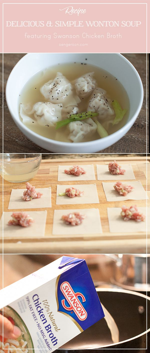 Easy and delicious wonton recipe with filler ingredient you probably already have in the fridge. Easy and delicious. #wontons #comfortfood #yummy