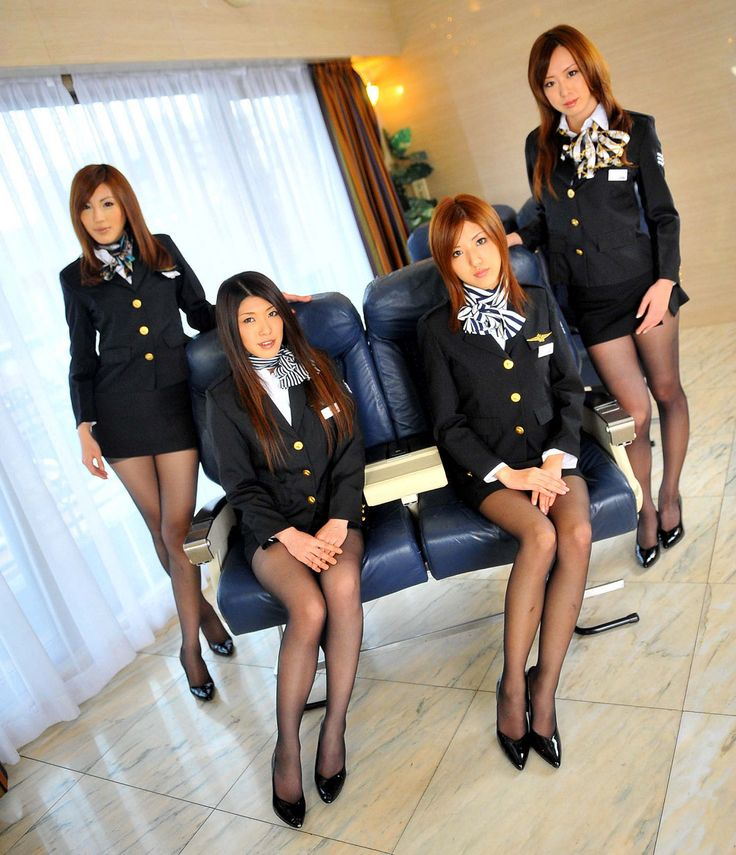 Swinging sexy stewardesses