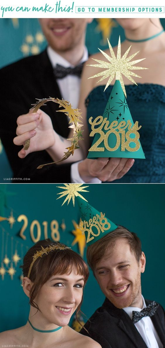 Be the Star of the Show with our DIY New Year's Eve Crown - Lia Griffith - www.liagriffith.com #newyears #newyearseve #diyparty #diycostume #paper #paperart #papercut #madewithlia