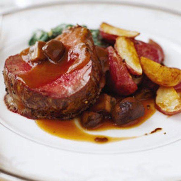 Beef Tenderloin with Mushrooms and Espagnole Sauce
