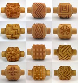 Surface Decoration : Texture Rollers : MKM Rollers - The Ceramic Shop