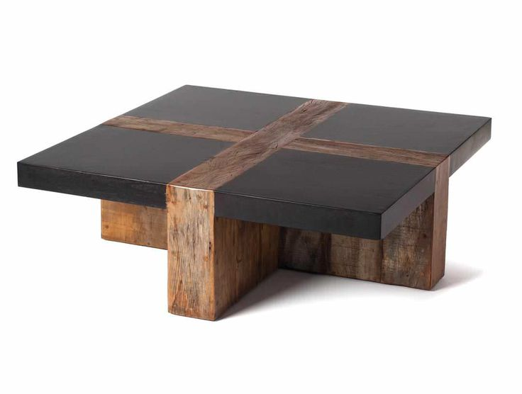 Furniture : Recycled Rectangular Coffee Table From Scrap Wood Come ...