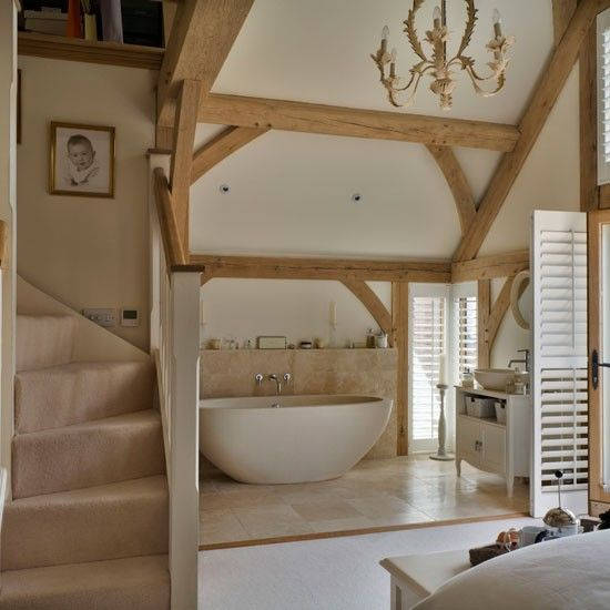 En suite bathroom | Be inspired by this rustic new-build house tour | housetohome.co.uk