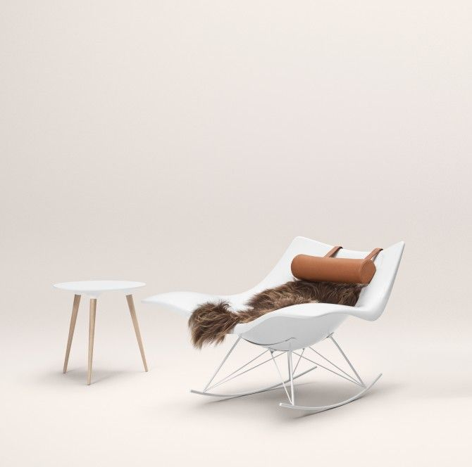 Stringray rocking chair designed by Danish designer Thomas Pedersen for the Danish furniture brand Fredericia.