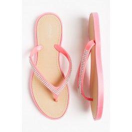 Crystal rubber flip-flops