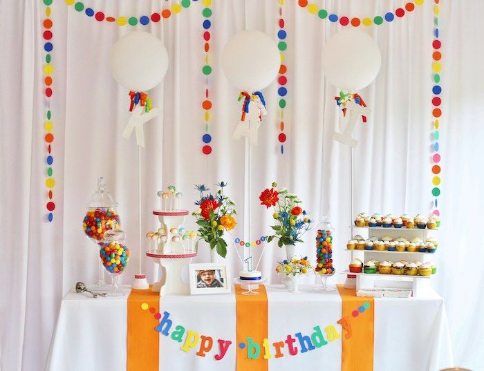 Dessert Table from a Primary Color Ball Birthday Party via Kara's Party Ideas KarasPartyIdeas.com (23)