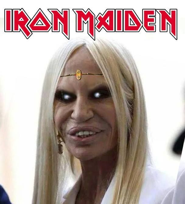 Iron Maiden Donatella Versace   Random funny pics   Funny ...