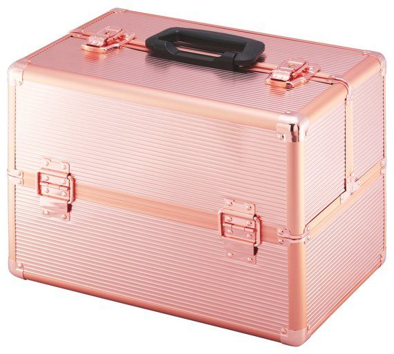 Buy Large Rose Gold Colour Aluminium Vanity Case at Argos.co.uk, visit Argos.co.uk to shop online for Make up bags and cases, Make up, skincare and nails, Health and beauty