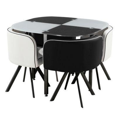 Me gust este producto mica juego de comedor blanco y for Comedor redondo 6 sillas