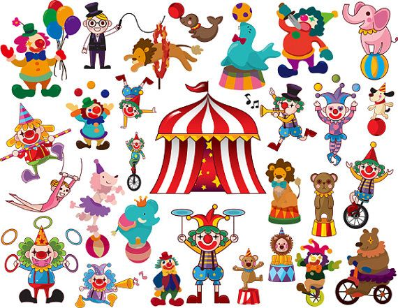 Instant Download 29 Circus Clip Art Digital by OneStopDigital, $4.25