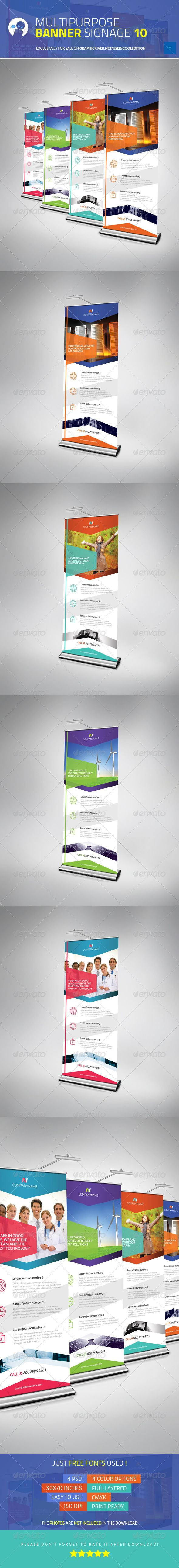 Multipurpose Banner Signage 10 — Photoshop PSD #signage #info • Available here → https://graphicriver.net/item/multipurpose-banner-signage-10/5633383?ref=pxcr