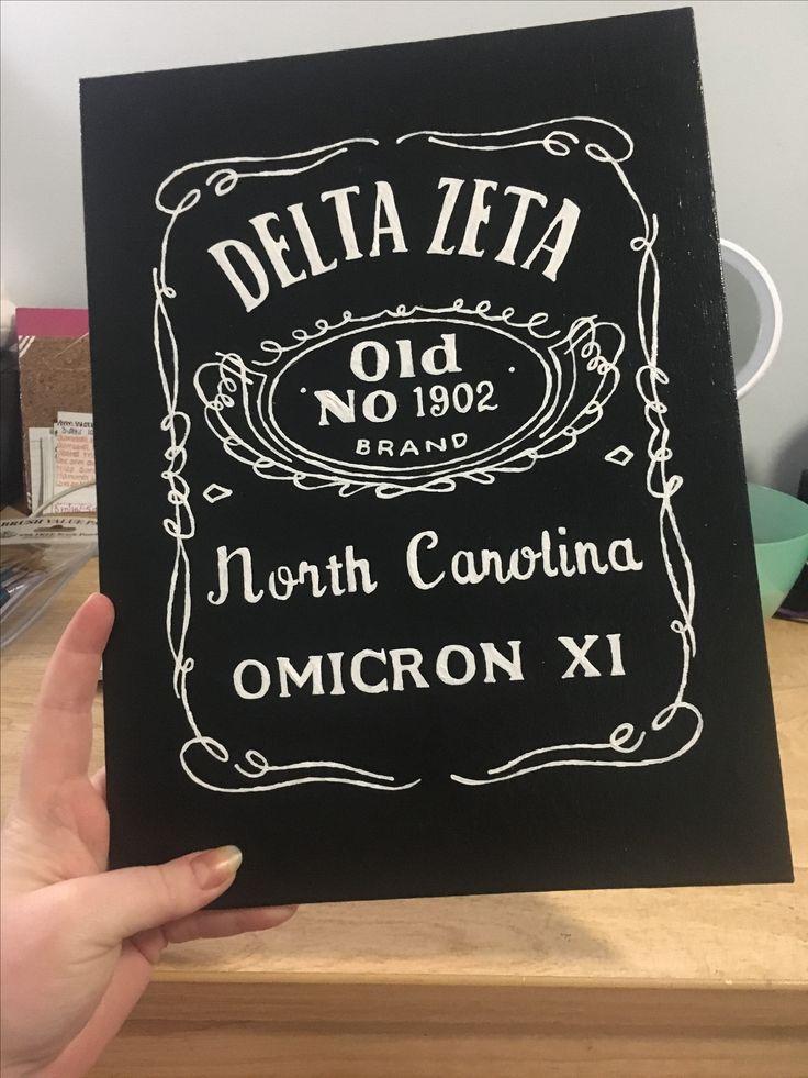 Delta Zeta Jack Daniel's inspired Canvas by Denise DeVatt🤘🏻