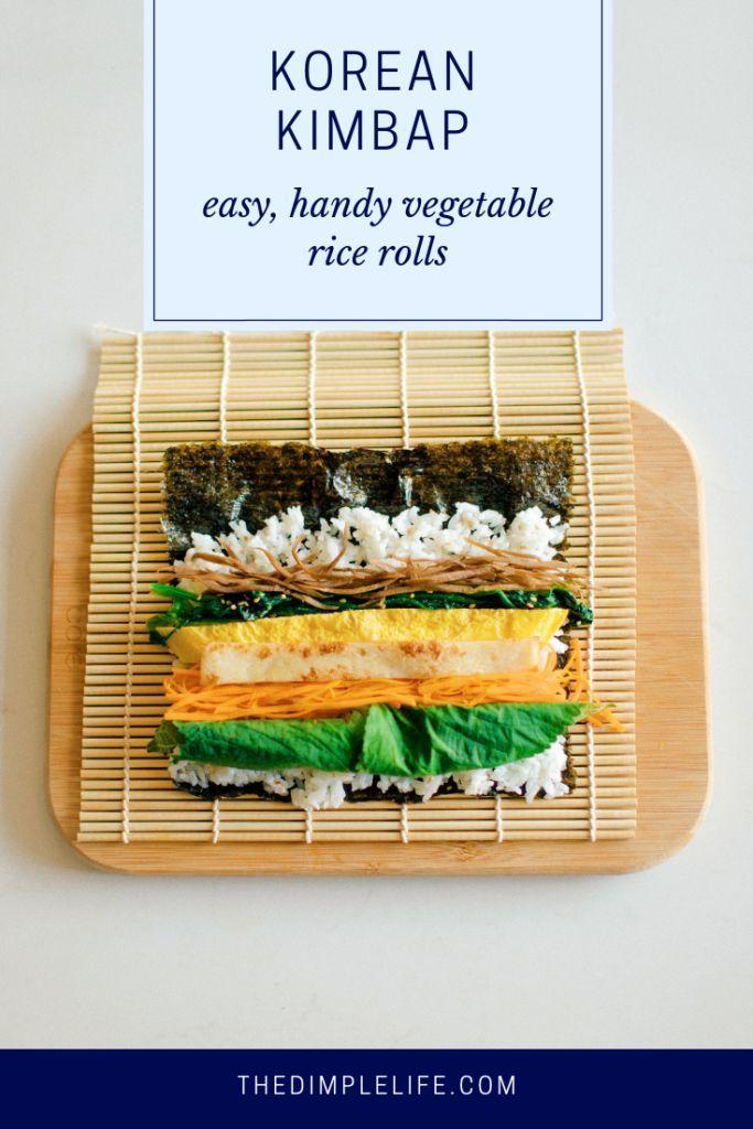 Homemade Traditional Korean Kimbap Recipe The Dimple Life Recipe Healthy Korean Recipes Korean Kimbap Recipes
