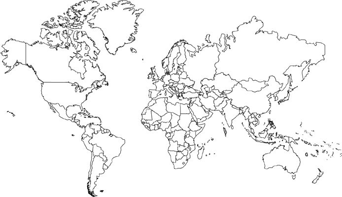 Blank World Maps With Countries Diagrams Free Printable Images World Maps
