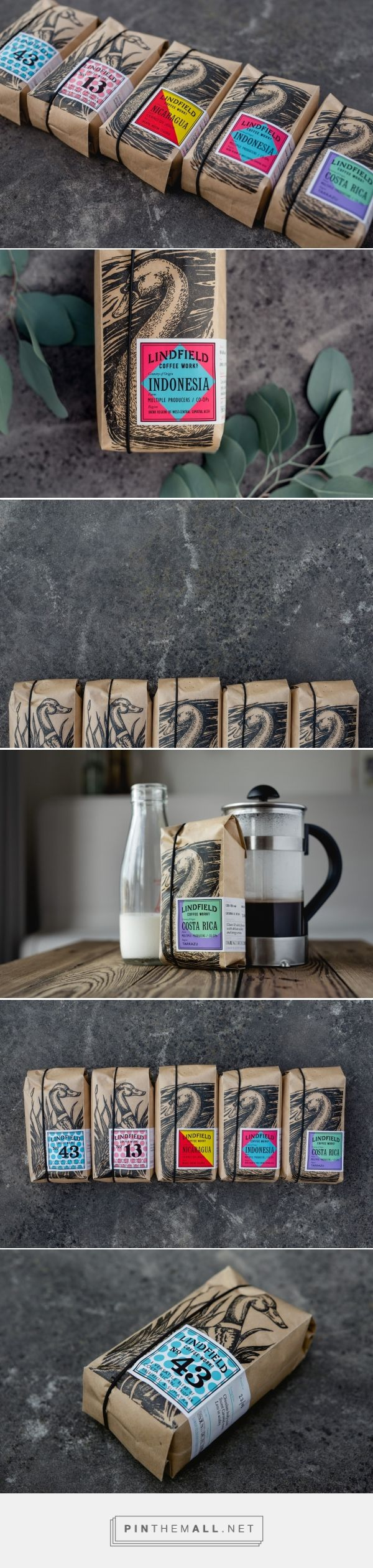 Lindfield Coffee Works packaging design by Studio Parr - http://www.packagingoftheworld.com/2016/11/lindfield-coffee-works.html