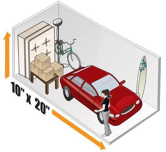 10 X 20 Self Storage Unit Size Newcastle Heated Storage