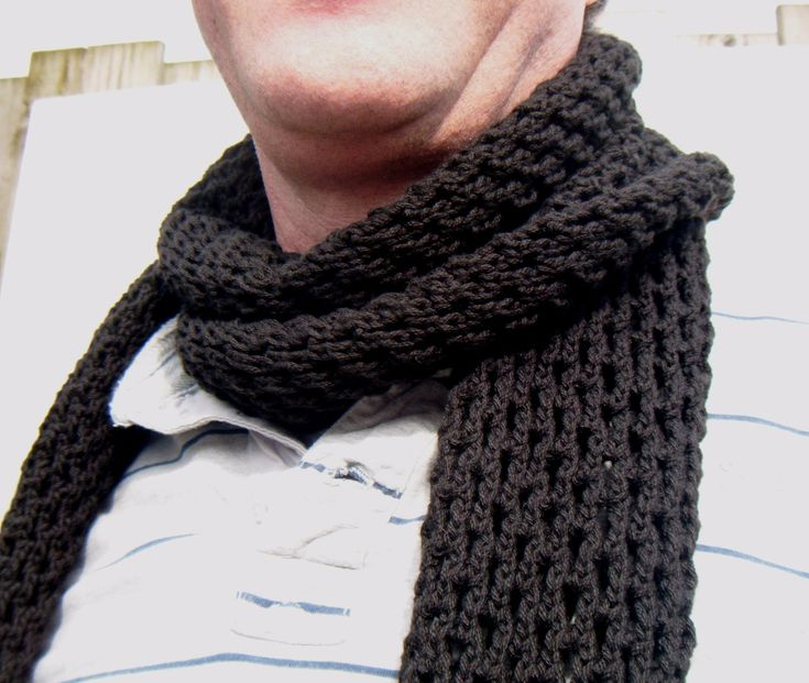 crochet men's scarf patterns | Sale 40 Hand Knitted Mens Scarf Mens Scarf In Dark Blue Extra Long