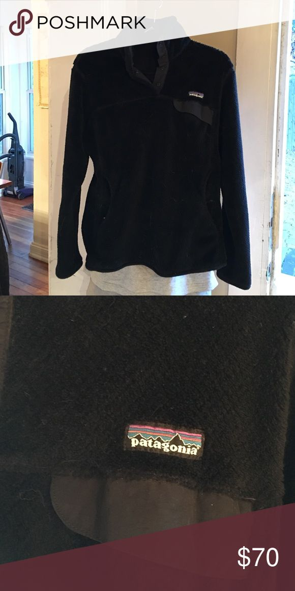 Patagonia Black Pullover Fleece Patagonia pullover-- gently used, in great condition! Patagonia Jackets & Coats