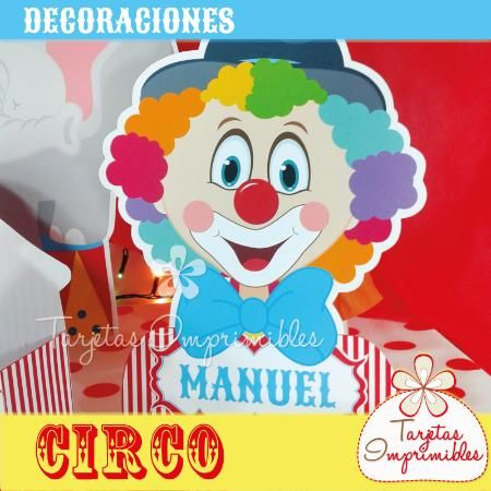 15 best images about cumplea os de circo on pinterest - Decoraciones de bares ...