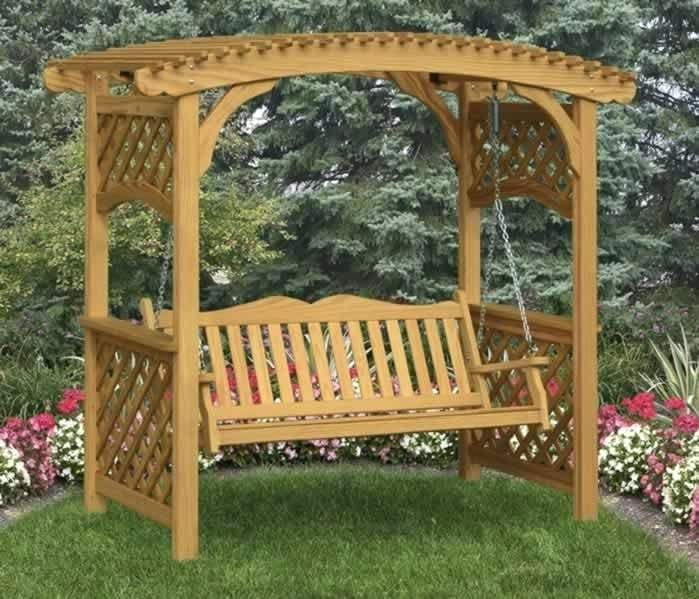Pergola Swing Plans Trellis Bench Garden Arbor With Bench Swing Pergola Swing Bed Plans Outdoor Lawn Furniture Pergola Backyard Swings