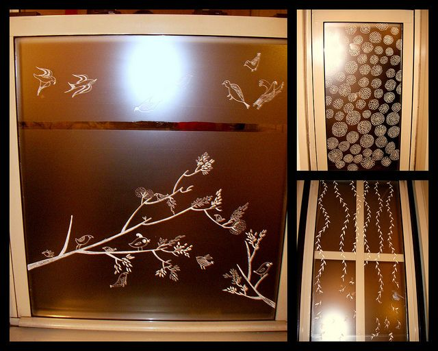 Window Film by NKreations, via Flickr  white paintpen on brown window film, inspired by the other clear contact paper with white paint pen  PIN