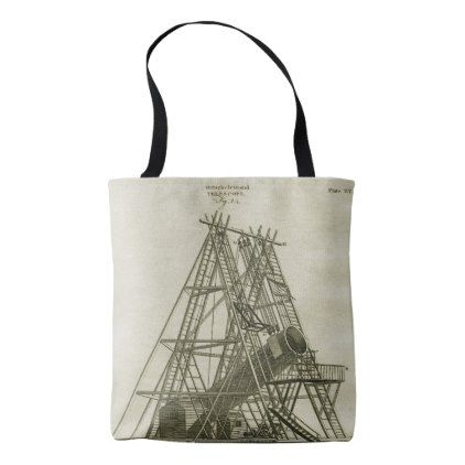 Telescope Antique SCIENCE EQUIPMENT 18TH CENTURY Tote Bag - antique gifts stylish cool diy custom