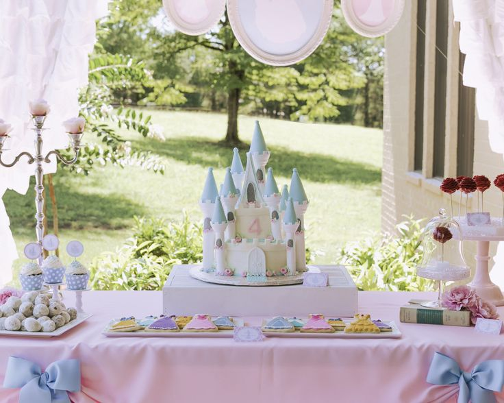 A party perfect for a little princess, straight out of a fairy tale! Designed for little princesses (and princes) in mind with a soft pink and blue color palate, this magical party features character
