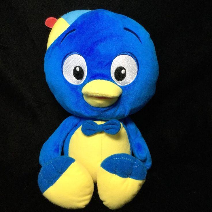 "Fisher Price Pablo Backyardigans Blue Yellow Bird Hat 13"" Stuffed Soft Toy  #FisherPrice"
