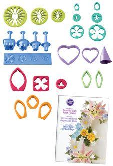 Wilton -- Gum Paste Flower Cutter Set (19 pcs + instruction book) -- $29.99