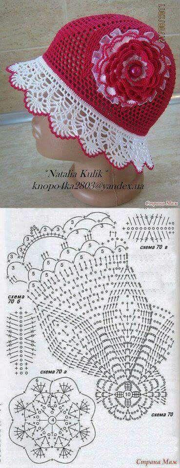 304 best Crochet hats beanies summer thread or yarn images on ...