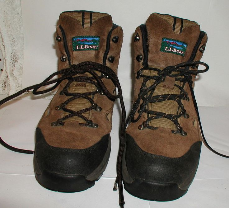 LL BEAN Hiking Boots Men's Medium Size 11.5 - Waterproof - LACE UP Suede Brown…