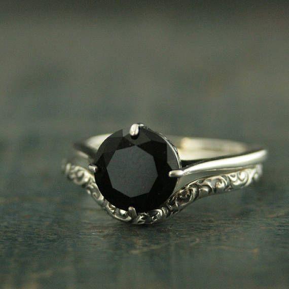Sterling Silver Bridal SetVintage Style RingAntique Style