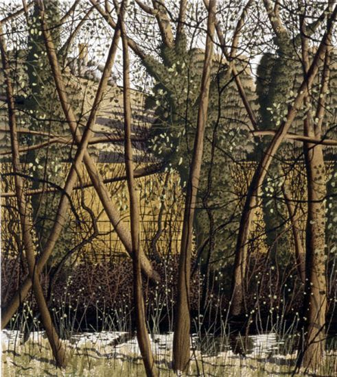 simon palmer 'Land between Fields' reminds me of a Richard Dadd background