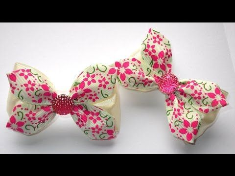 Bow-pin with his hands/ DIY/ Tutorial - YouTube                                                                                                                                                                                 Más