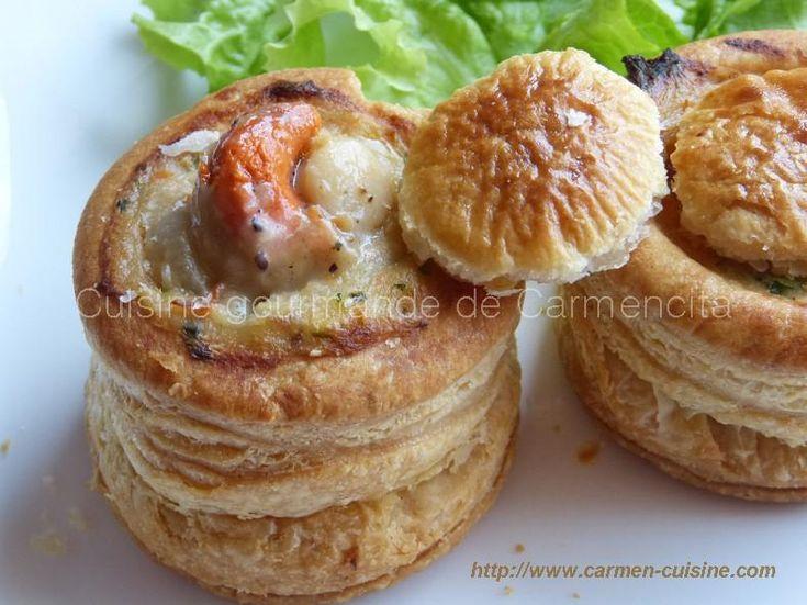 Vol+au+vent+au+saumon+frais+et+noix+de+Saint+Jacques