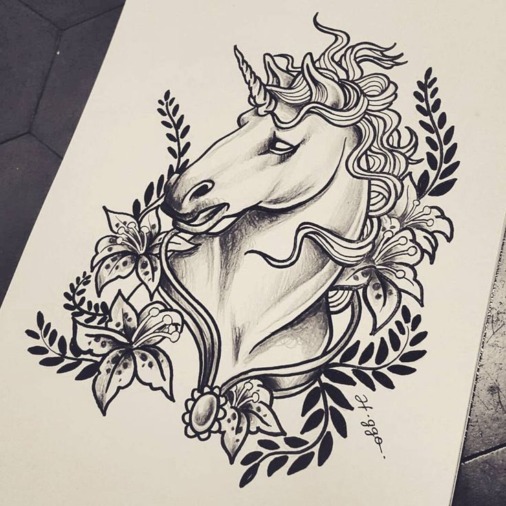 Unicórnio 🦄 • #artwork #desenhando #ink #drawing
