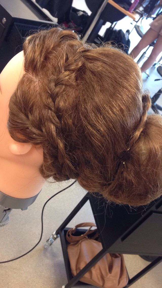 Side view of braid and bun
