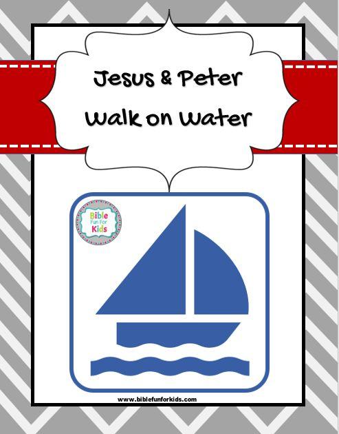 Jesus & Peter Walk on Water lesson, ideas, worksheet & more #Biblefun