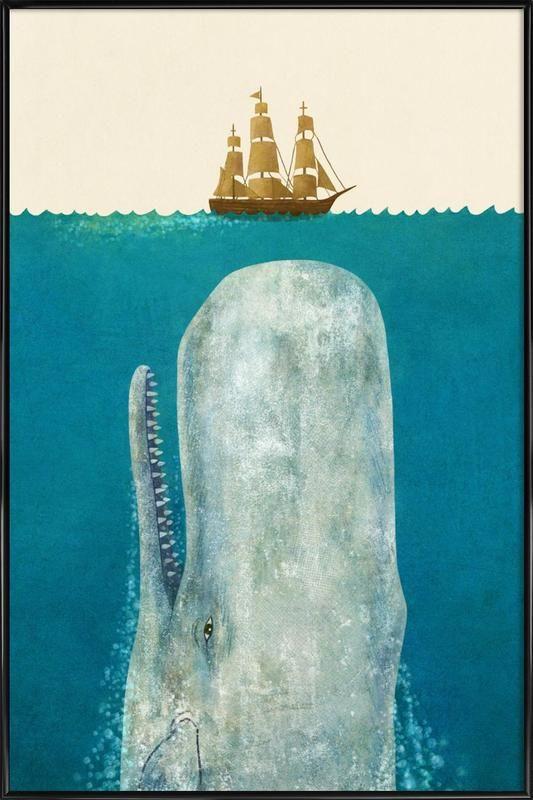 The Whale en Affiche sous cadre standard par Terry Fan | JUNIQE