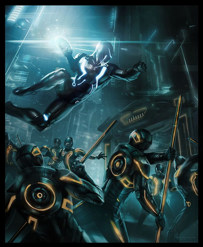 Tron: Evolution Concept Art by Daryl Mandryk