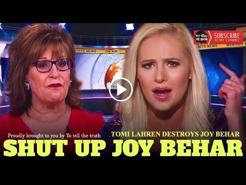 She Is Over! Tomi Lahren Just Destroyed The Low IQ Joy Behar On Live TV!