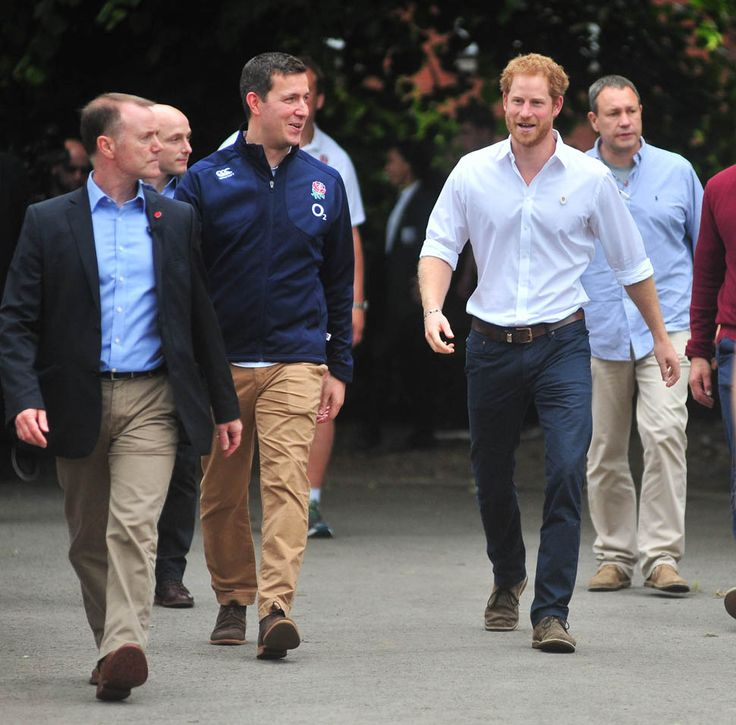 Prince Harry plays touch rugby in Manchester and Prince William ...