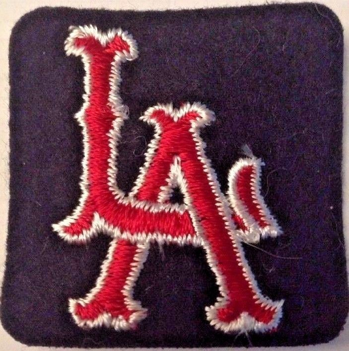 """Vintage 1962 Rare Embroidered MLB  LA Los Angeles Angels sew on patch  2""""X 2"""""""