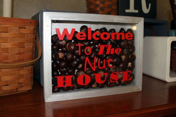 Ohio State Decor Welcome To the Nut House Shadow by thebuckeyelady, $20.00