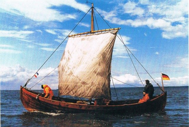 Reconstruction of ancient Slavic boat in Rugen. A significant archaeological discovery was made in the village of Ralswiek on the legendary ...
