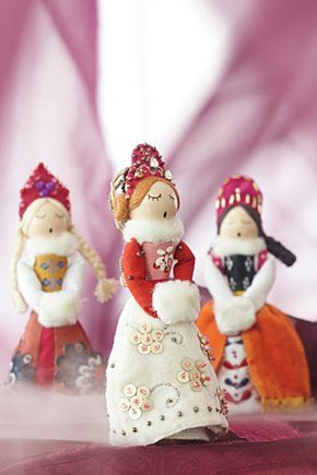 caroler girl ornaments