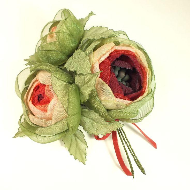 Купить Утро Дикой Розы. Букет. Брошь с цветами из ткани - цветы, цветы ручной работы