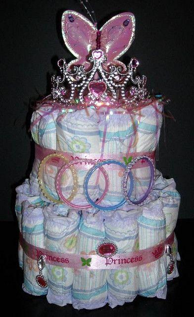 princess pull ups | Princess Pull Ups Diaper Cake | Flickr - Photo Sharing!