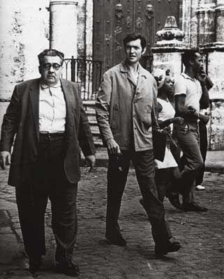 José Lezama Lima y Julio Cortázar en La Habana, 1974