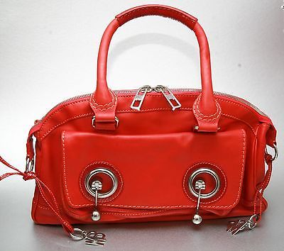 Stunning Red Danish Designer leather handbag By Malene Birger
